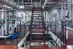 Produção de planta industrial especializada das gorduras e de aditivos de alimento imagem de stock royalty free