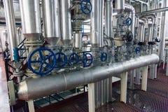 Produção de planta industrial especializada das gorduras e de aditivos de alimento fotos de stock