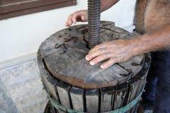Produção de vinho caseiro Foto de Stock Royalty Free