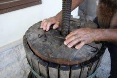 Produção de vinho caseiro Imagem de Stock Royalty Free