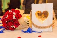Produção do casamento ou do evento do arco-íris Foto de Stock
