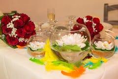 Produção do casamento ou do evento do arco-íris Fotografia de Stock Royalty Free