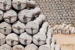 Produção do cimento foto de stock