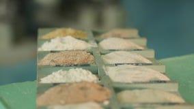 Produção do moinho de farinha video estoque