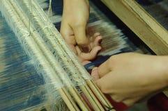 Produção e tecelagem dos tapetes e das telas Imagem de Stock