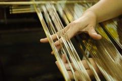 Produção e tecelagem dos tapetes e das telas Fotografia de Stock Royalty Free