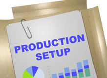 Produção Setup - conceito do negócio Fotografia de Stock