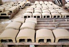Produção tradicional da telha de telhado Foto de Stock Royalty Free