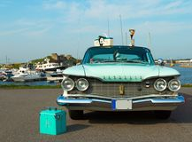 Producción americana de lujo 1960 de la furia de Plymouth del coche en festival de fotografía de archivo