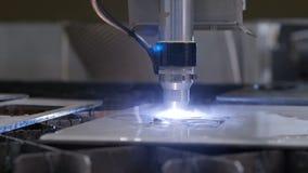 Producción automatizada con proceso del CNC y la máquina del laser para el metal cortado metrajes