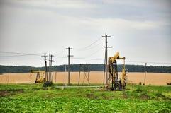 Producción de aceite mineral fotografía de archivo libre de regalías