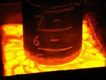 Producción de acero de alta calidad del metal fundido Fotografía de archivo