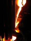 Producción de acero de la fundición de la metalurgia fotografía de archivo