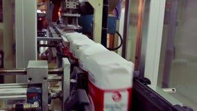 Producción de azúcar cristalino en la fábrica del azúcar metrajes