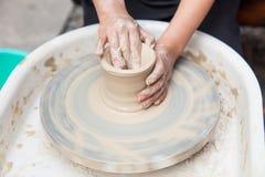 Producción de cerámica Fotografía de archivo