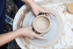 Producción de cerámica Fotografía de archivo libre de regalías