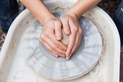 Producción de cerámica Foto de archivo