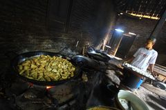 Producción de comidas de la soja Imágenes de archivo libres de regalías