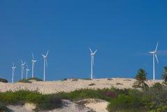 Producción de energía del molino de viento Imagen de archivo libre de regalías