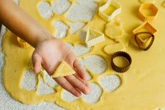Producción de galletas Foto de archivo libre de regalías