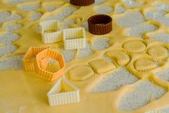 Producción de galletas Foto de archivo
