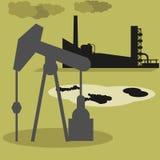 Producción de gas y de aceite Imagenes de archivo