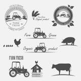 Producción de granja fresca ilustración del vector