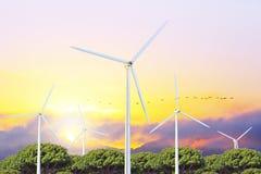 Producción de la energía eléctrica Fotos de archivo libres de regalías