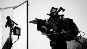 Producción de la película del tiroteo o del vídeo de la película Imagen de archivo libre de regalías