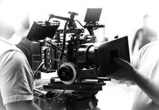 Producción de la película del tiroteo o del vídeo de la película Fotografía de archivo