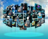 Producción de la televisión y de Internet Fotos de archivo libres de regalías