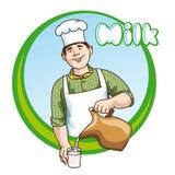 Producción de lechería stock de ilustración