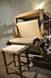 Producción de papel de algodón hecha a mano Fotografía de archivo libre de regalías