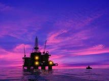 Producción de petróleo Foto de archivo libre de regalías