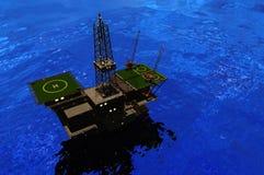 Producción de petróleo ilustración del vector