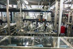 Producción de planta industrial especializada de las grasas y de los aditivos alimenticios fotos de archivo