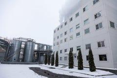 Producción de planta industrial especializada de las grasas y de los aditivos alimenticios fotografía de archivo