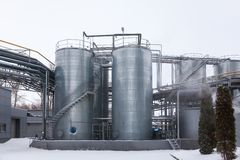 Producción de planta industrial especializada de las grasas y de los aditivos alimenticios foto de archivo libre de regalías