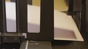 Producción de productos impresos en una casa de impresión metrajes