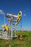 Producción de Russia.Oil en el campo petrolífero Fotos de archivo