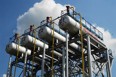 Producción de Russia.Oil en el 'campo petrolífero Fotografía de archivo libre de regalías
