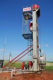 Producción de Russia.Oil en el campo petrolífero Imagen de archivo libre de regalías