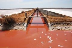 Producción de sal en España Imágenes de archivo libres de regalías