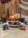 Producción de vida inmóvil a la víspera de la Navidad fotos de archivo libres de regalías