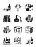 Producción de whisky y de brandy Fotografía de archivo