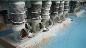 Producción del molino harinero almacen de metraje de vídeo