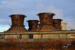 Producción del producto químico de la torre de enfriamiento Fotos de archivo libres de regalías