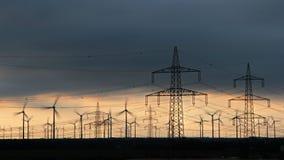 Producción eléctrica y distribución Foto de archivo