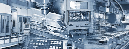 Producción en la industria imagenes de archivo