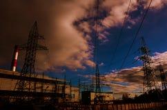 Producción energética Fotografía de archivo libre de regalías